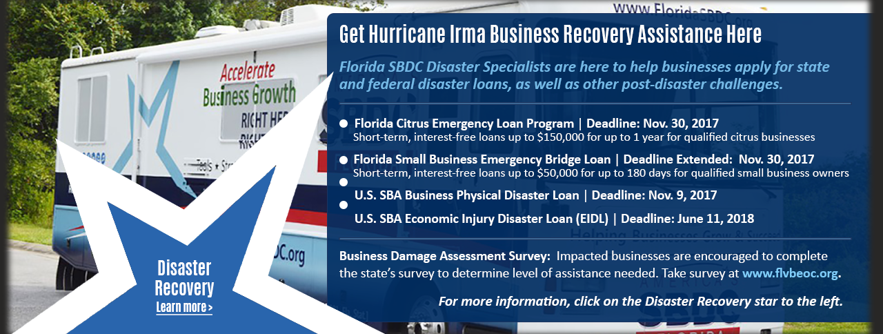 Get Hurricane Irma Business Recovery Assistance Here