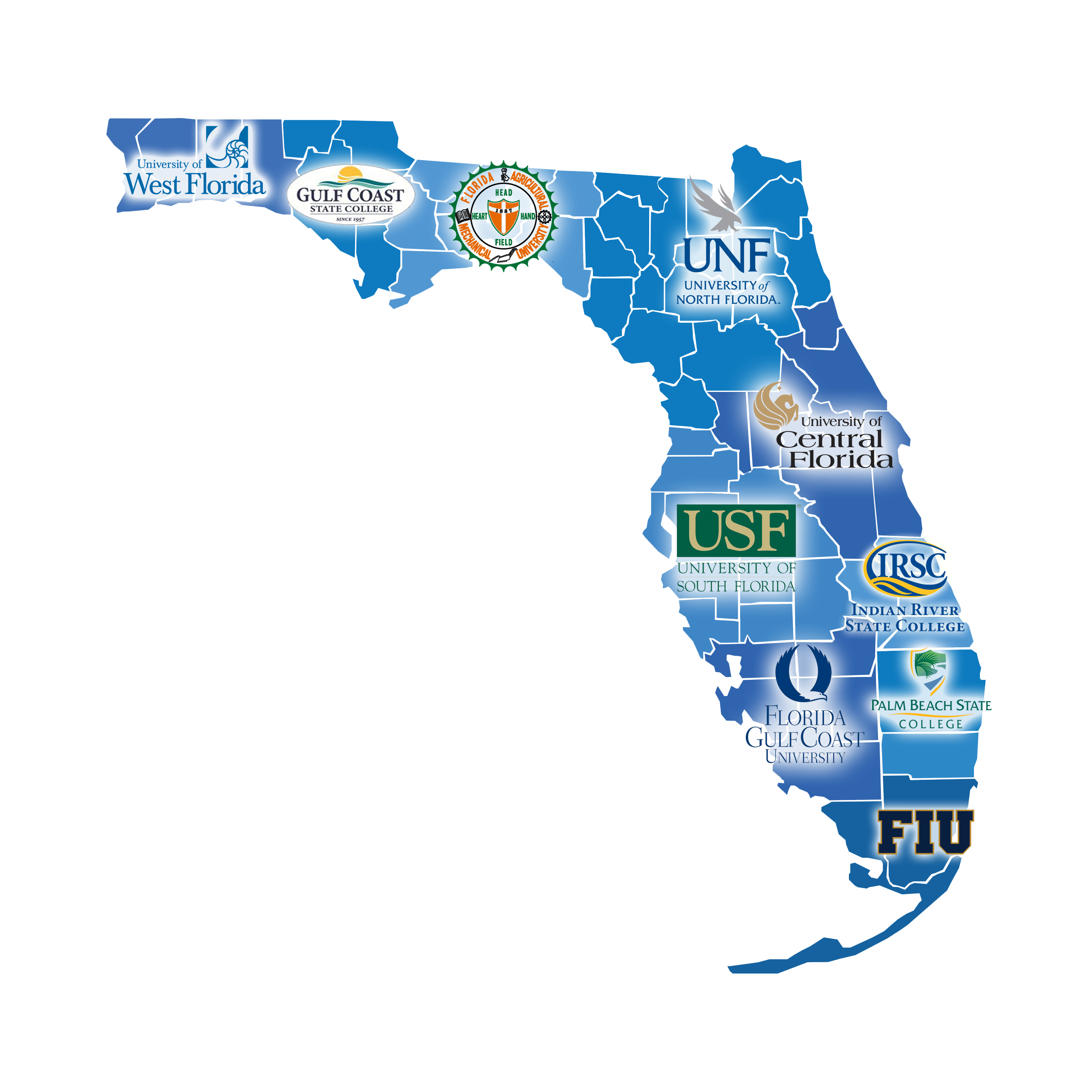 florida map of universities
