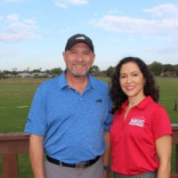 Cheval Golf and Athletic Club owner, Laryy King, Jr. and Florida SBDC at USF Consultant Yanina Rosario