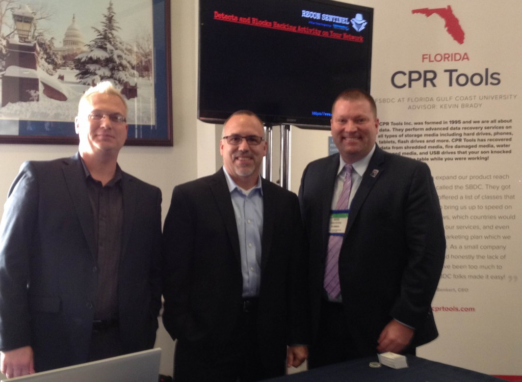 CPR Tools and Florida SBDC Network CEO and State Director Michael Myhre at the ASBDC Client Showcase