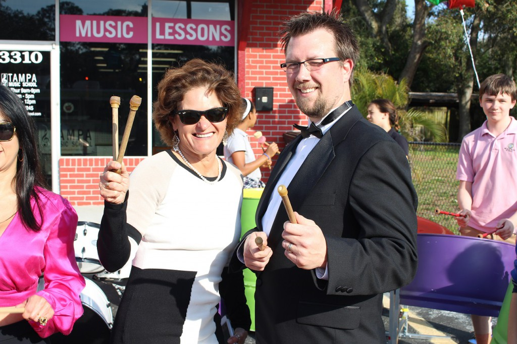Maestro Matthew Maines, owner of Tampa Music School, with Janette Blanco, Florida SBDC at Hillsborough County consultant
