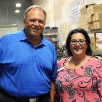Thomas Nihra, VP of J.T.D. Enterprises, with Selma Canas, Florida SBDC at USF International Trade Specialist