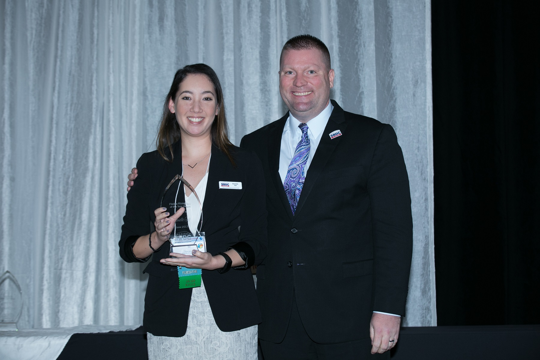 L-R: Danielle Gal, the 2017 Florida Rising Star, and Michael Myhre