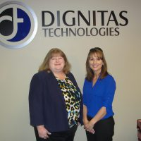 Florida SBDC at UCF Advisory Board Council Program Manager Jill Kaufman and Elizabeth Burch, Dignitas Technologies