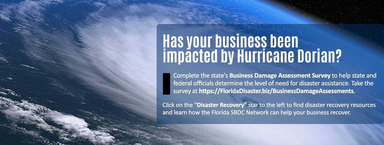 Complete the state's business damage assessment survey at https://floridadisaster.biz/businessdamageassessment