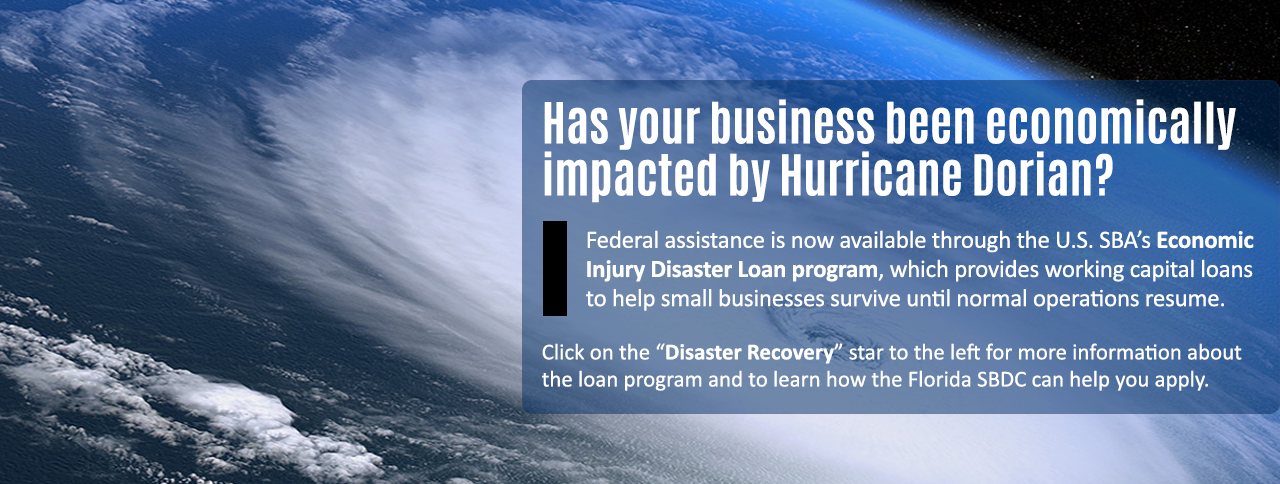 Federal Assistance Available for Businesses Economically Impacted by Hurricane Dorian