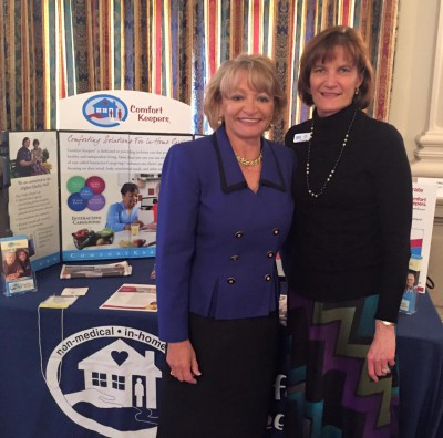 Kathryn Murphy (left) with FSBDC at UNF consultant, Cathy Hagan (right)