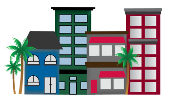Florida SBDC Network State of Small Business Report Buildings Graphics