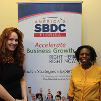 Caroline Yachan (left), President of Tamarha's Secret, worked with consultant Pauline Davis from the Florida SBDC at UCF to secure an emergency bridge loan for the business following Hurricane Irma.