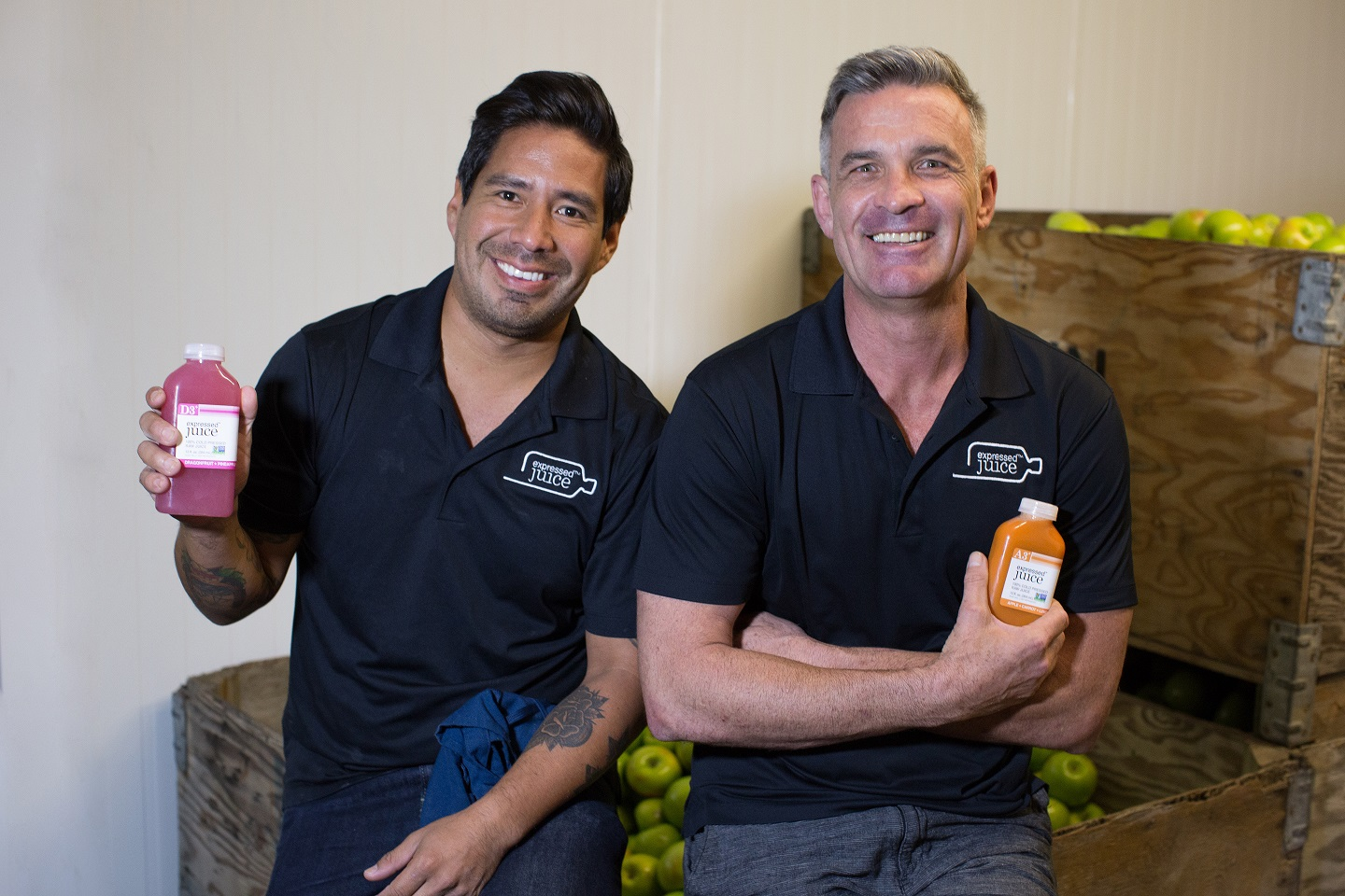 Willie Pinillos-left & Paul Van Hamond-right - Expressed Juice, a client of the Florida SBDC at FIU