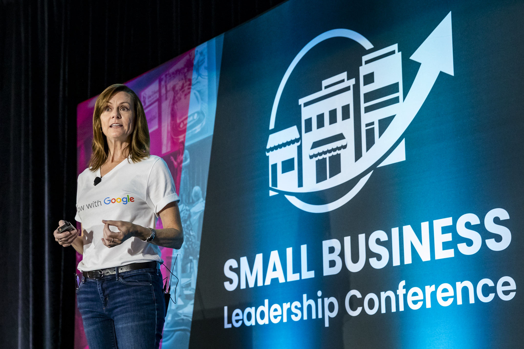 Pamela Starr, a speaker for the Grow with Google partner program, addresses the audience during the 2019 Small Business Leadership Conference in Orlando